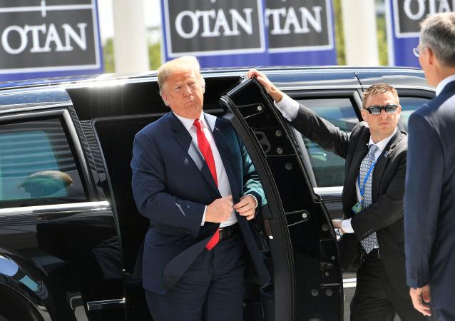 Donald Trump na summitu NATO v Bruselu 11. července 2018
