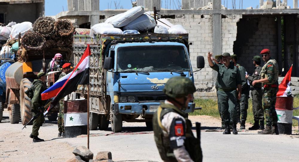 Humanitární konvoj v Idlibu
