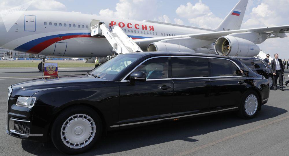 Putinova limuzína Aurus Senat