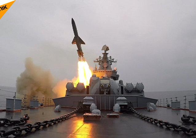Střelby raketami s plochou dráhou letu v rámci cvičení Tichooceánského  loďstva