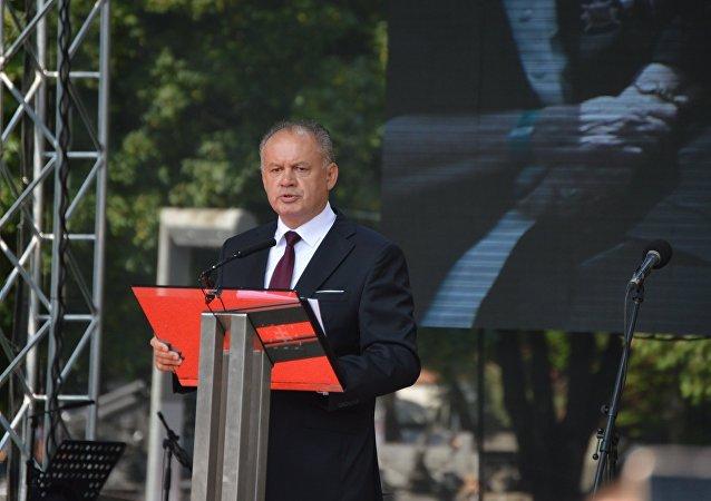 Slovenský prezident Andrej Kiska během oslav SNP