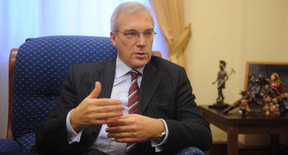 Velvyslanec Ruska při NATO Alexandr Gruško