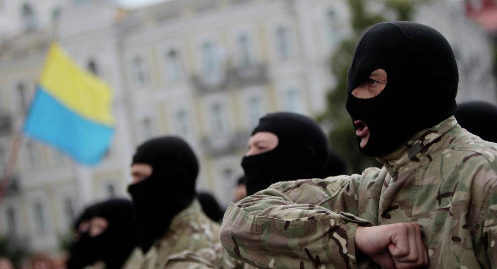 Příslušníci praporu Azov. Ilustrační foto