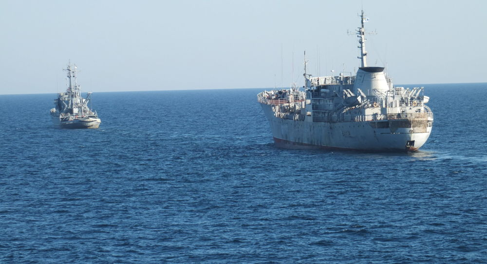 Ukrajinské lodě u krymského pobřeží