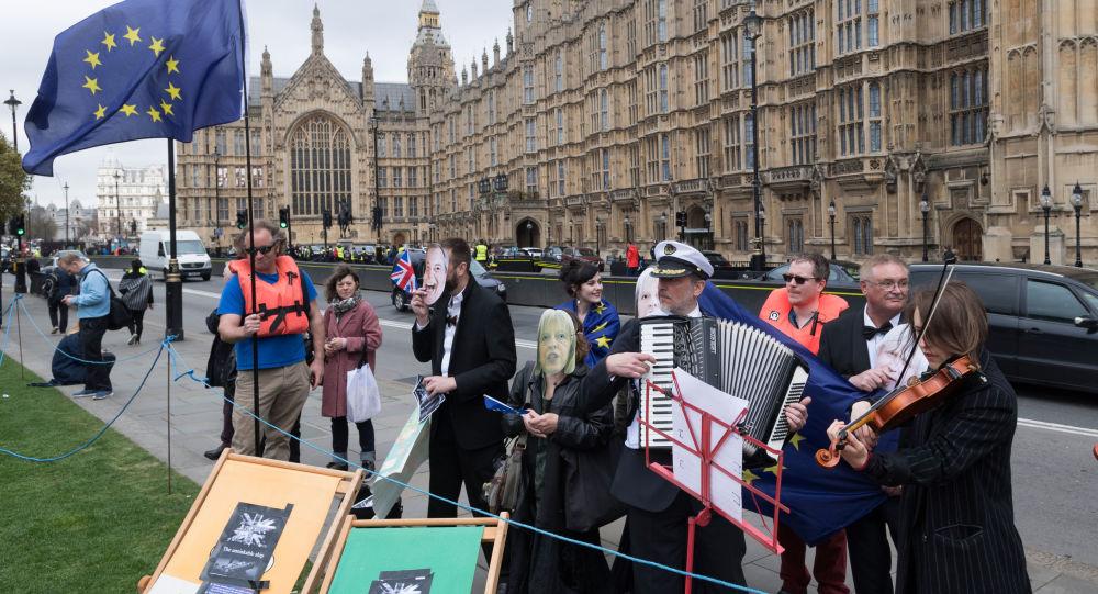 Odpůrci brexitu v Londýně