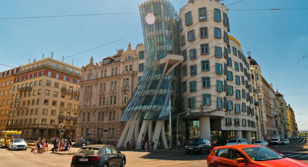 Tančící dům v Praze. Ilustrační foto