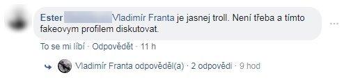 Obr. 5: Komentář jednoho z participantů Facebookové diskuze