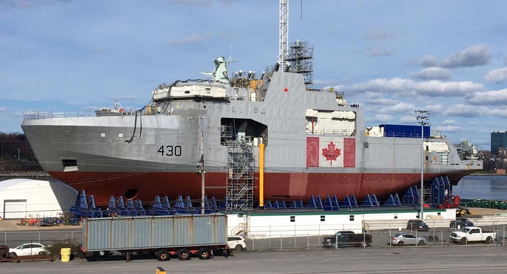 první lodi arktické třídy pro kanadské vojenské námořnictvo Harry De Wolf