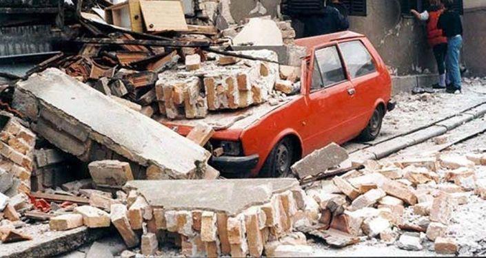 Bělehrad po bombardování vojsky Severoatlantické aliance. 1999