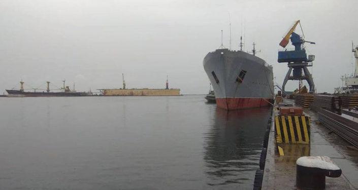 Loď ukrajinského námořnictva v Mariupolu.  Ilustrační foto