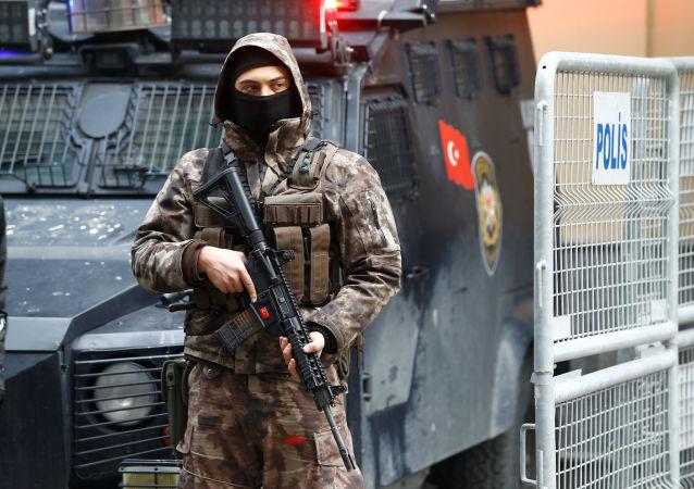 Turecká policie v Istanbulu. Ilustrační foto