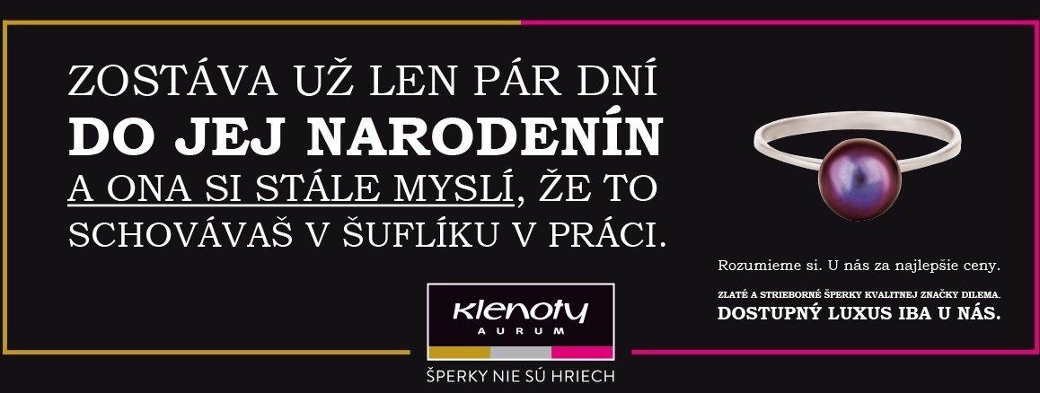 Banner Klenoty Aurum