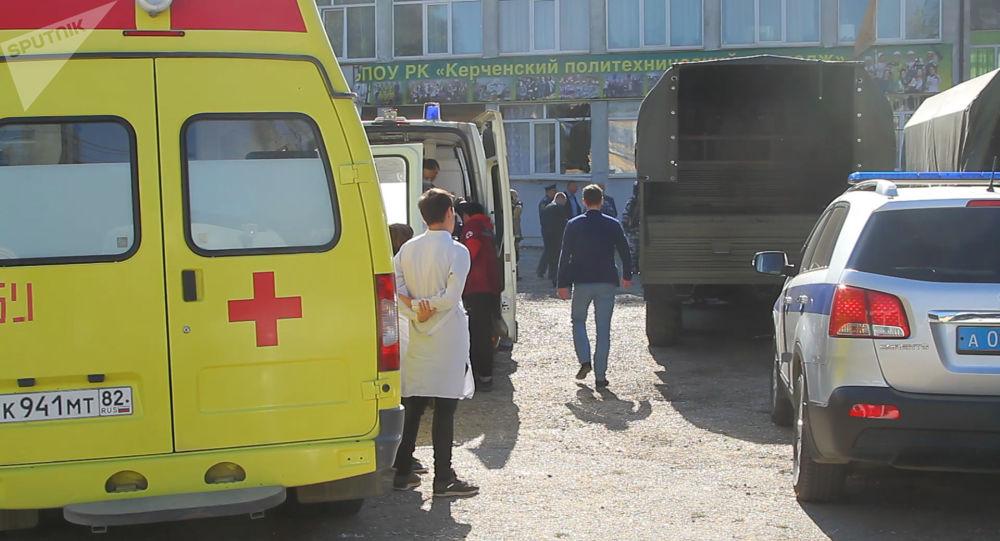 Na místě výbuchu v Kerči