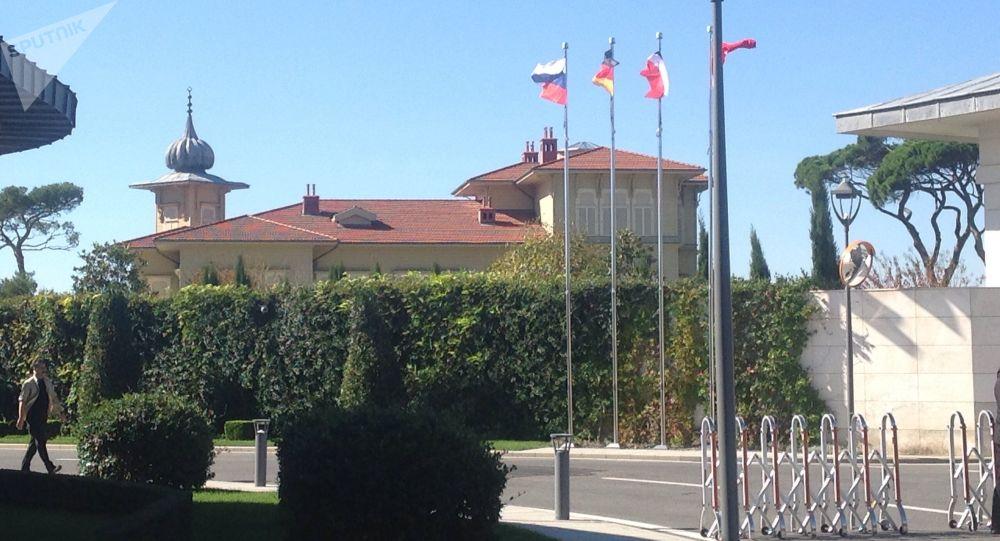 Pracovní rezidence Erdoganu v Istanbulu