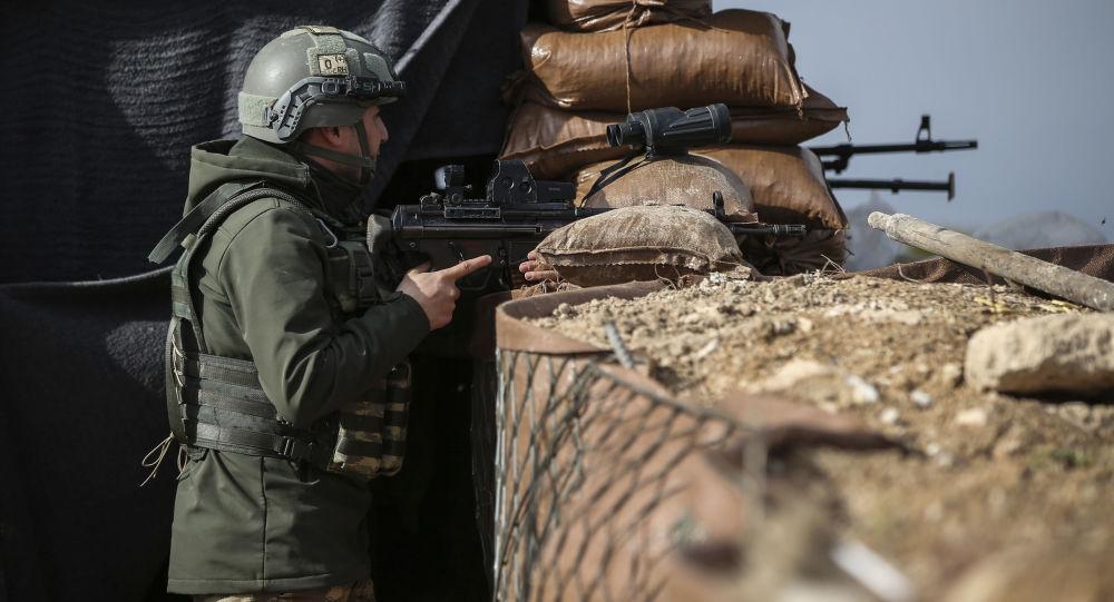 Turecký voják v Sýrii