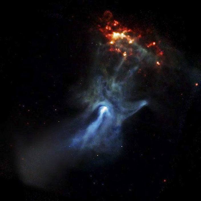 Pulsar známý jako PSR B1509-58 nebo B1509