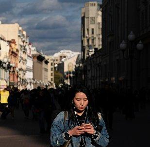 Ulice Arbat v Moskvě
