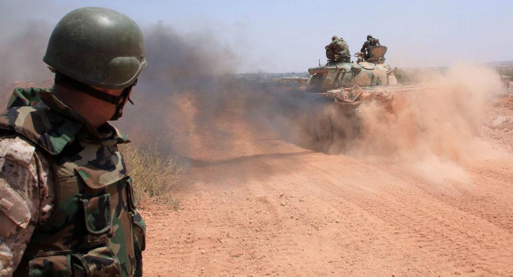 Syrská armáda nedaleko Aleppa