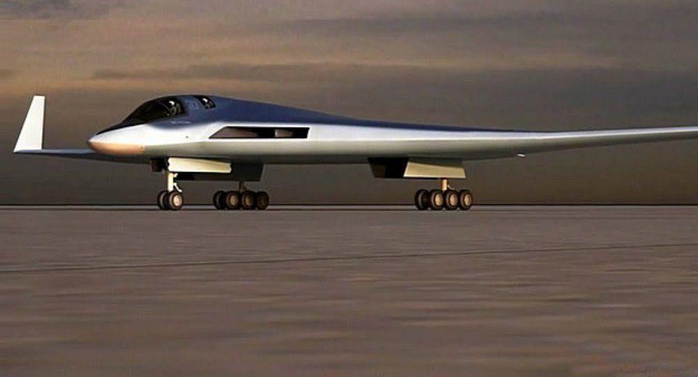 Náčrt perspektivního leteckého systému pro dálkové letectvo (PAK DA)