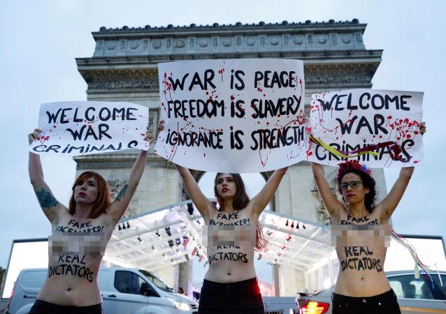 Aktivistky feministické organizace FEMEN
