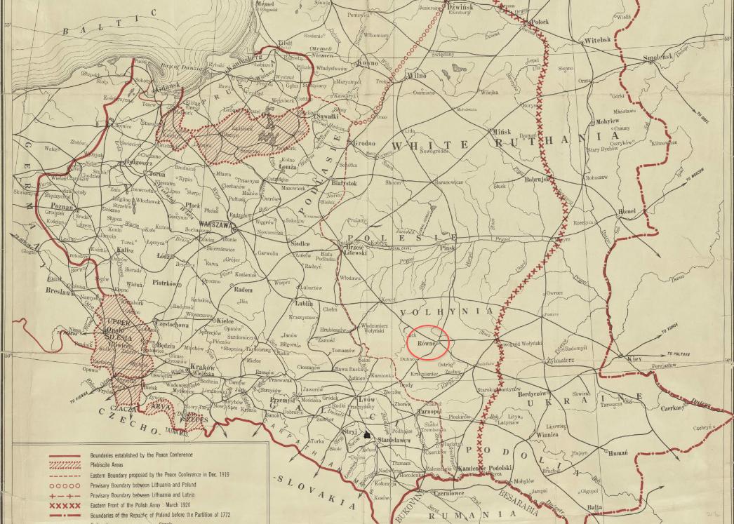 Mapa Polska, 1920