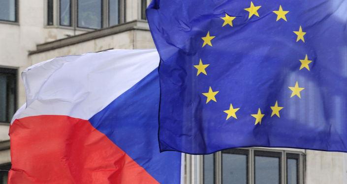 Vlajky Česka a EU