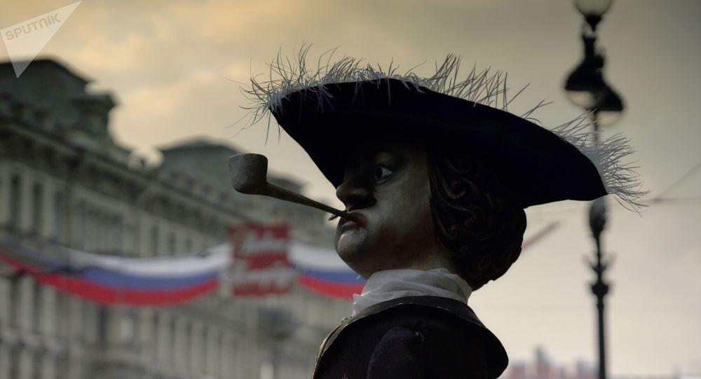 Figurína Petra I. v Petrohradu