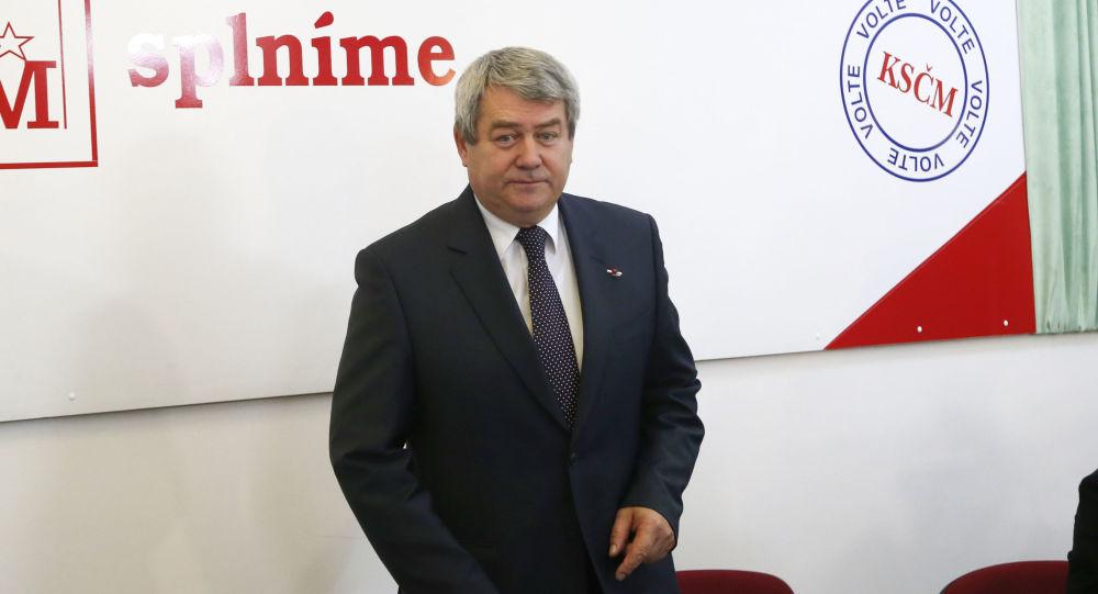 Předseda komunistické strany Vojtěch Filip