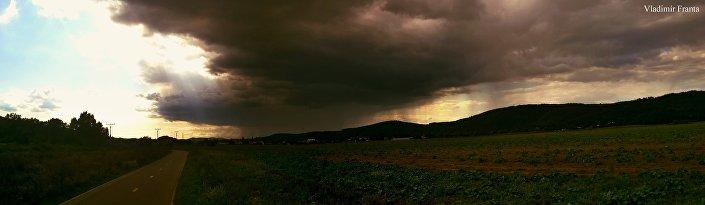 Obr. 4: Na závěr vám přinášíme totéž místo u Dobřichovic za zcela jiných meteorologických podmínek.