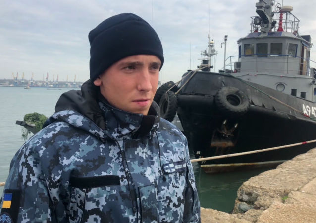 Ukrajinský námořník z posádky člunu Nikopol Sergej Cybizov