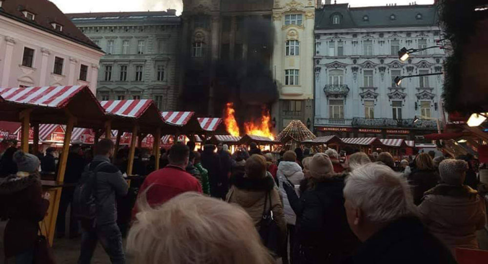 Požár v Bratislavě