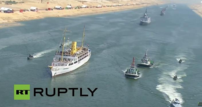 Slavnostní otevření nové větve Suezského průplavu