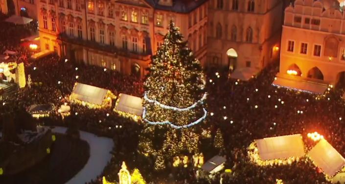 Rozsvícení vánočního stromku v Praze