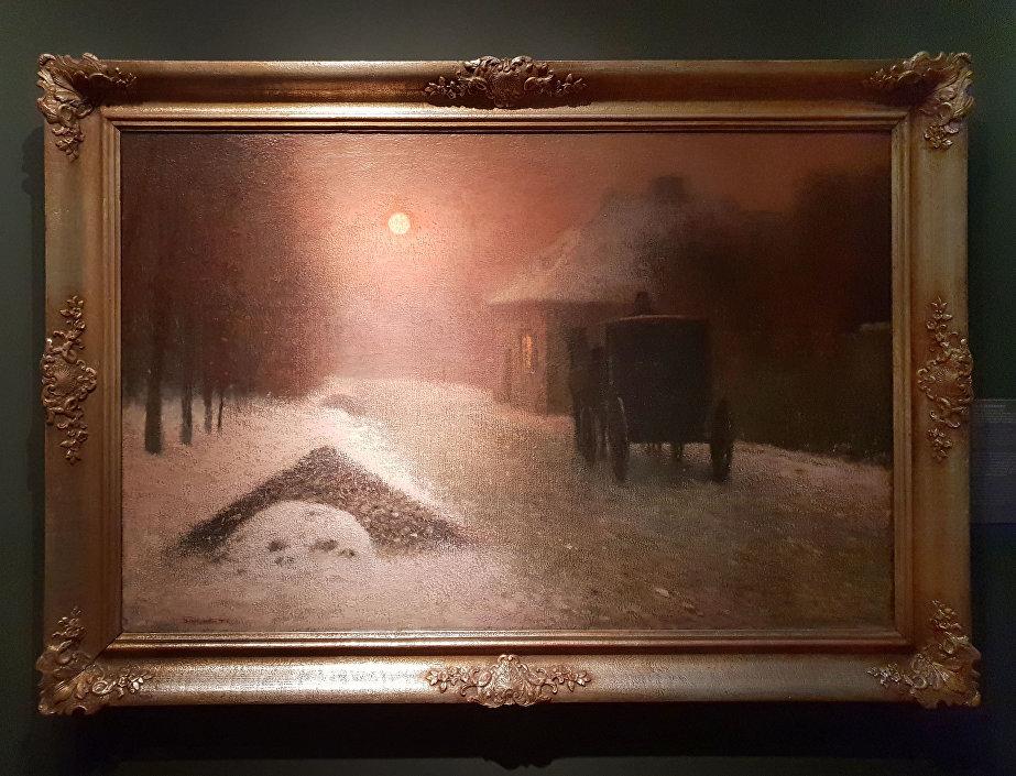 Jakub Schikaneder – Na ztracené vartě (vůz v noci).