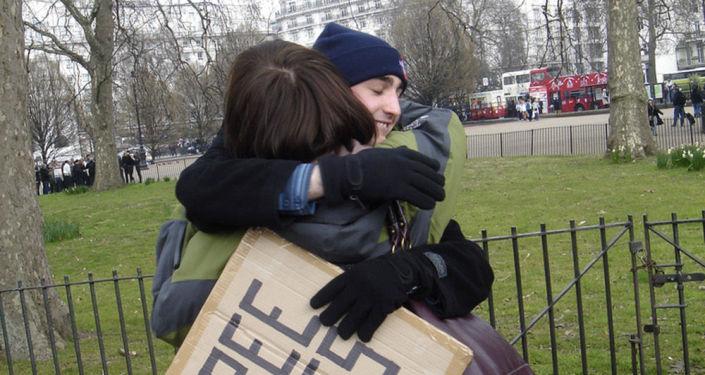 Hnutí Free Huggs v Londýně.