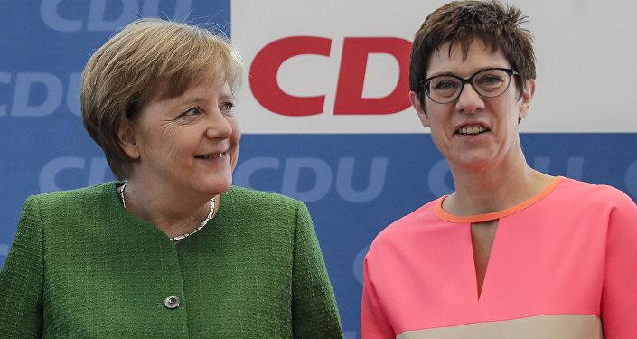 Předsedkyně Křesťanskodemokratické unie (CDU) Annegret Krampová-Karrenbauerová, která na tomto postu vystřídala německou kancléřku Angelu Merkelovou