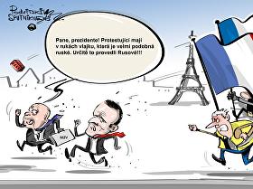 Ruští agenti ve žlutých vestách
