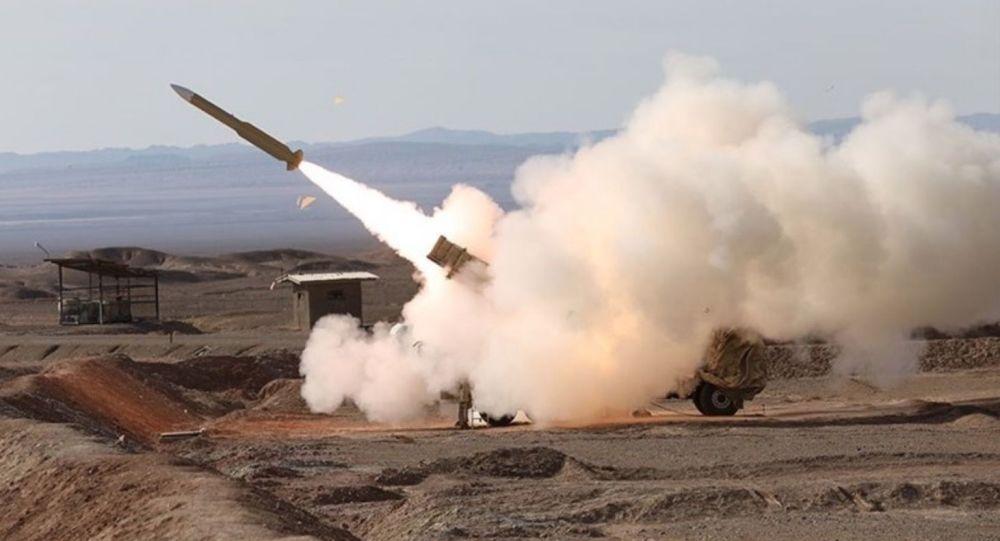 Zkouška íránských raket  pomocí systému Mersad