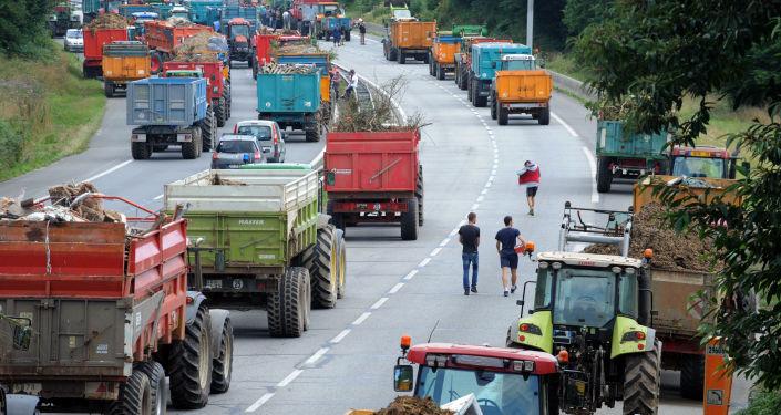 Demonstrace francouzských farmářů