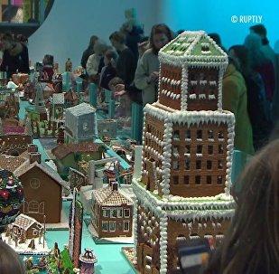 Vánoční pohádka. Ve Stockholmu proběhla soutěž zázvorových perníkových domečků