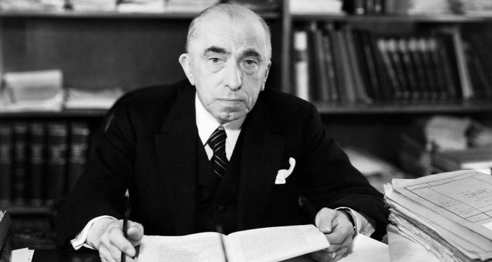Československý prezident Emil Hácha.