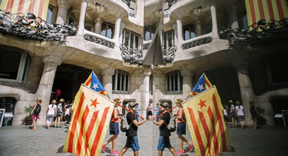 Účastníci akce v Barceloně