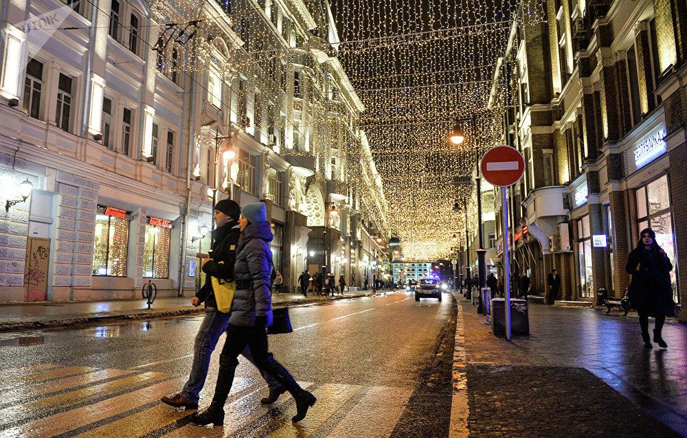 Festival Vánoční světlo v Moskvě