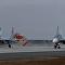 Letiště Belbek na Krymu přijalo první stíhačky po rekonstrukci