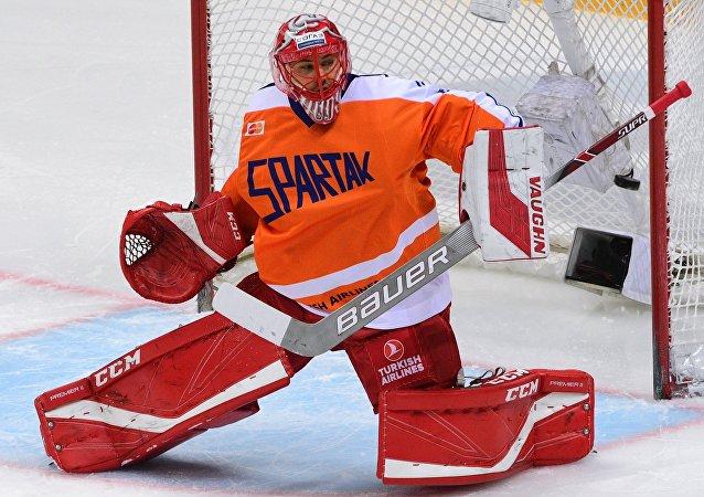 Slovenský hokejista Július Hudáček