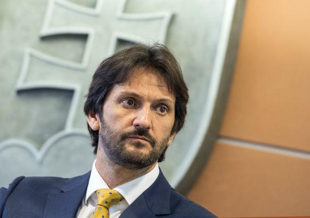 Místopředseda strany SMER, poslanec NR SR a bývalý ministr vnitra Slovenska Robert Kaliňák