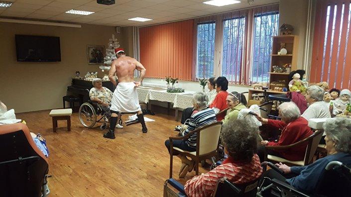Striptýz. Domov pro seniory v Orlové na Karvinsku