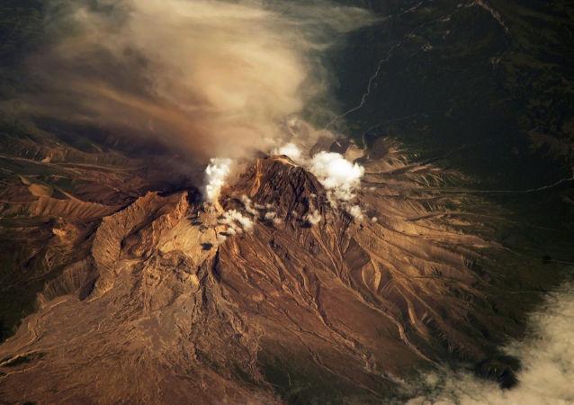 Sopka Šiveluč na Kamčatce