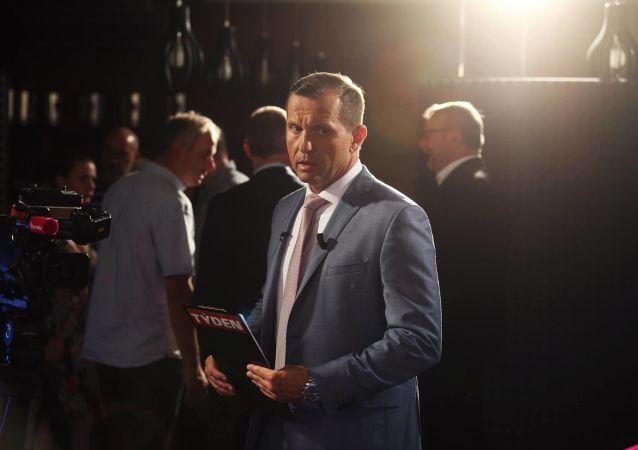 Moderátor a majitel TV Barrandov Jaromír Soukup
