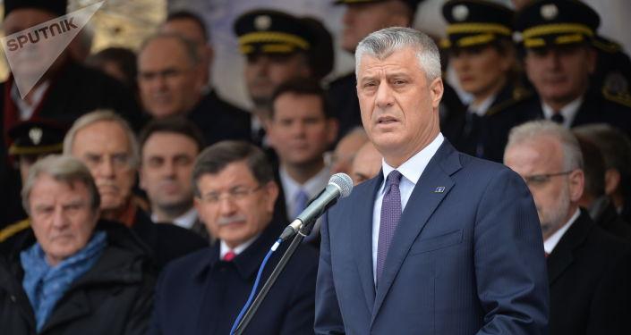 Prezident samostatně vyhlášené republiky Kosovo Hashim Thaçi